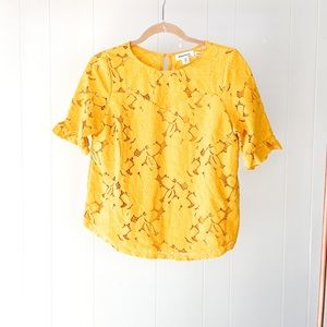 NWOT Embroidered Lace Blouse